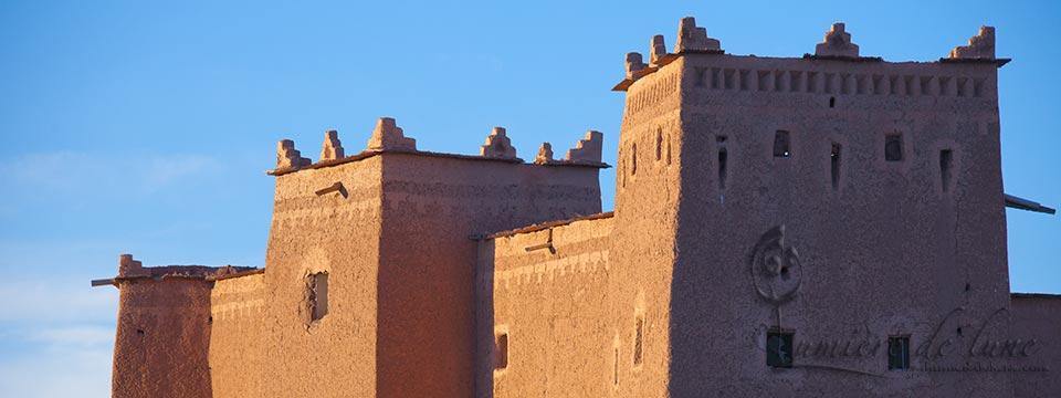 La kasbah de Taourirt au coucher du soleil