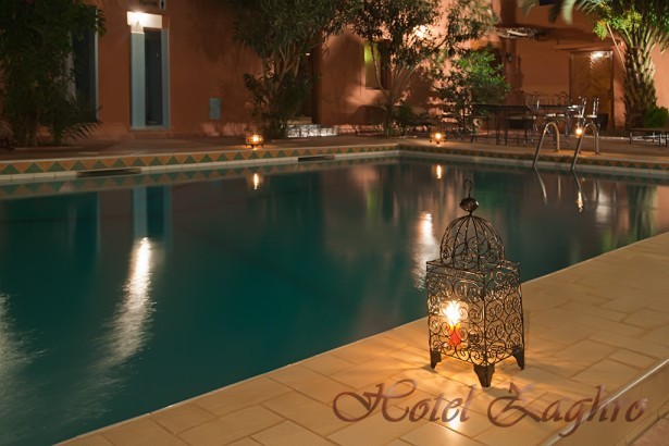 The swimming pool at night